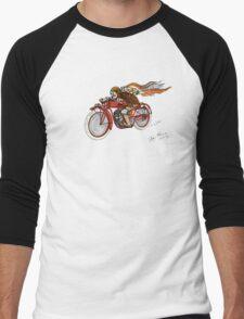 STEAMPUNK INDIAN STYLE MOTORCYCLE T SHIRT Men's Baseball ¾ T-Shirt