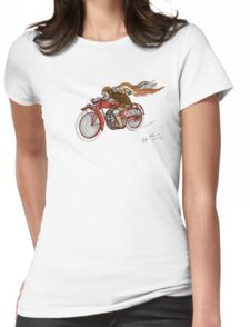 STEAMPUNK INDIAN STYLE MOTORCYCLE T SHIRT Womens Fitted T-Shirt