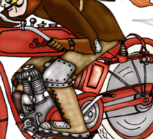 STEAMPUNK INDIAN STYLE MOTORCYCLE T SHIRT Sticker