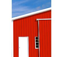 Red Country Barn Photographic Print