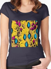 Snake skin texture.  Women's Fitted Scoop T-Shirt