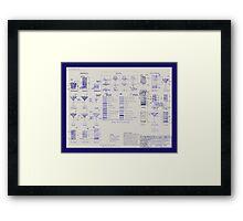 Mixologists' Blueprint Framed Print