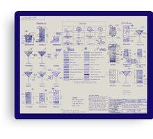 Mixologists' Blueprint Canvas Print