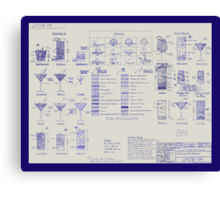 Mixologists' Blueprint Canvas Print