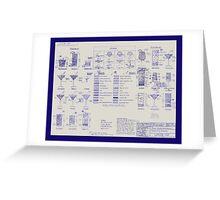 Mixologists' Blueprint Greeting Card