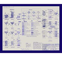 Mixologists' Blueprint Photographic Print
