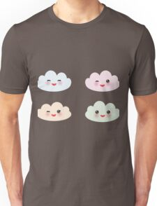 Kawaii funny white clouds Unisex T-Shirt