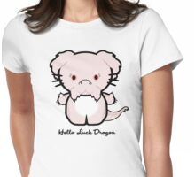 Hello Luck Dragon Womens Fitted T-Shirt