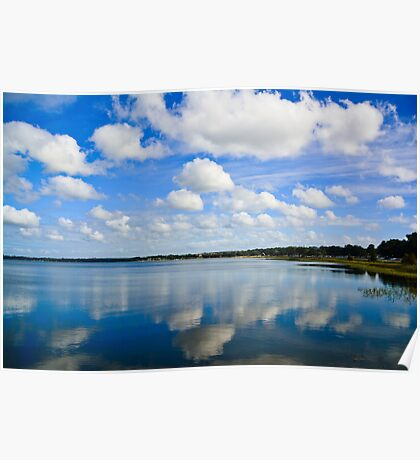 Reflected clouds Poster