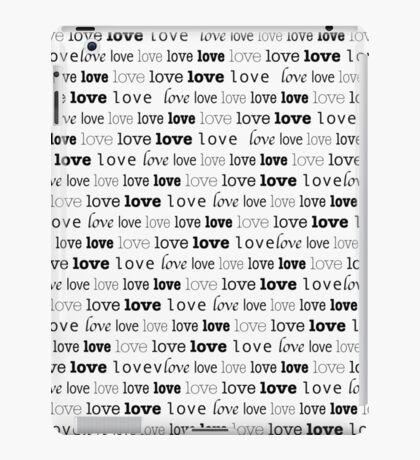 Love in fonts iPad Case/Skin