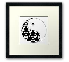 Yin Yang Triangles Framed Print