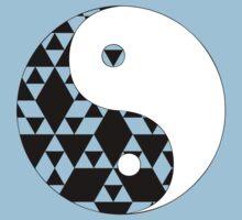 Yin Yang Triangles Kids Tee