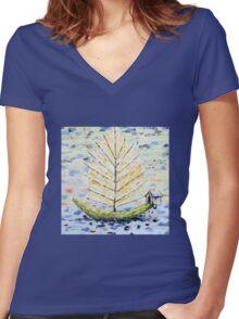 Dream Boat Women's Fitted V-Neck T-Shirt