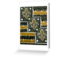FOOTBALL New Orleans Who Dat Nation Greeting Card