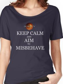 Keep Calm and Misbehave Women's Relaxed Fit T-Shirt