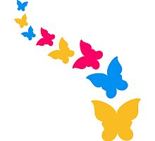 Beautiful colorful flying butterfly pattern by Style-O-Mat