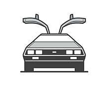 #4 Delorean by brownjamesdraws