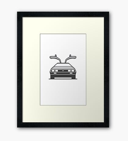 #4 Delorean Framed Print
