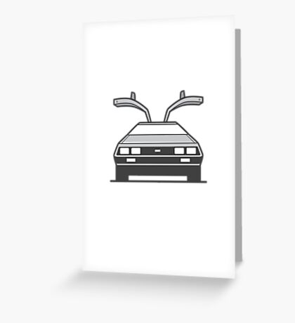 #4 Delorean Greeting Card