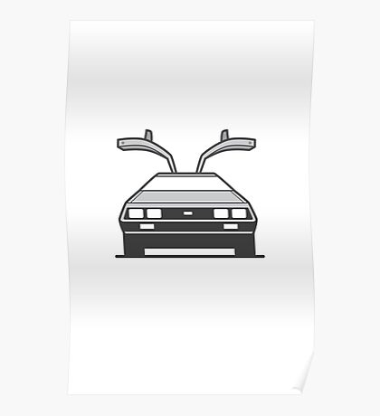#4 Delorean Poster