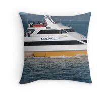Ferry between Townsville & Magnetic Island. Far Nth. Qld. Throw Pillow