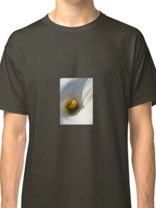 Macro of A Calla Lily With Shadows Classic T-Shirt