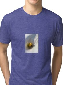 Macro of A Calla Lily With Shadows Tri-blend T-Shirt