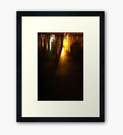 Night reflections Framed Print
