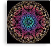 Bliss Energy Yoga Chakra Mandala Canvas Print
