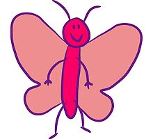 Funny sweet cute little cartoon Butterfly by Style-O-Mat