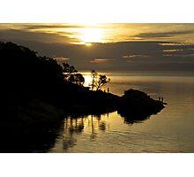 Sunset fisherman, Freycenet, Tasmania Photographic Print