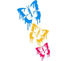 Cool colorful Butterfly graffiti stamp design by Style-O-Mat