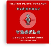 Twitch Plays Pokemon Champions Canvas Print