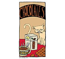 "Dirk Strangely's ""Cats and Sweets"" CHOCOLATE Photographic Print"