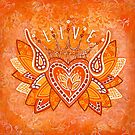 LIVE by Lisa Frances Judd~QuirkyHappyArt