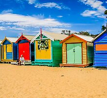 Bathing Boxes Triptych, LH, 1 of 3 by Russell Charters