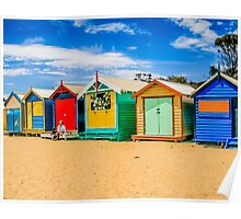 Bathing Boxes Triptych, LH, 1 of 3 Poster