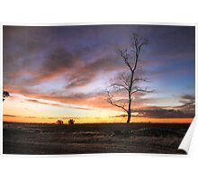 Sunset in the Mallee Poster