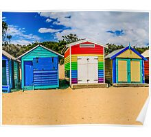 Bathing Boxes Triptych, Middle, 2 of 3 Poster