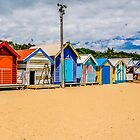 Bathing Boxes Triptych, RH, 3 of 3 by Russell Charters