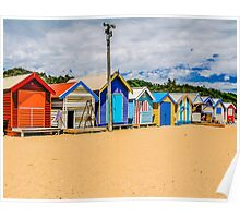 Bathing Boxes Triptych, RH, 3 of 3 Poster