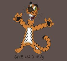 """Tiger """"Give us a Hug"""" One Piece - Short Sleeve"""