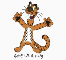 "Tiger ""Give us a Hug"" Kids Tee"