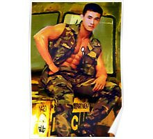 Asian Army Hunk Poster