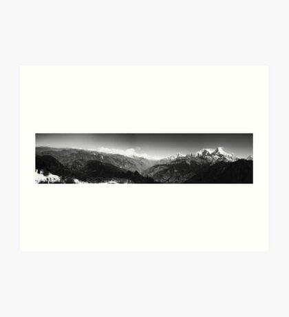Annapurna Range. Himalayas. Art Print