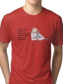 Mike Tyson Mysteries-- Pigeon Phone Tri-blend T-Shirt