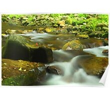 Landscape of water stream in Zhangjiajie, China Poster