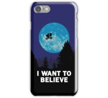 The X-Files: I Want to Believe Poster E.T Extra Terrestrial Spoof iPhone Case/Skin