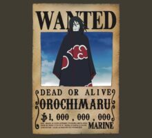 Wanted Poster Orochimaru by BadrHoussni