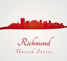 Richmond skyline in red by Pablo Romero